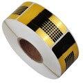 Nuevo 500 unids/Plaza Rollo Formulario Golden Nail Stickers, Consejo de Extensión de Uñas de Gel Herramientas, Sostenedor de Papel Accesorios de Belleza de uñas