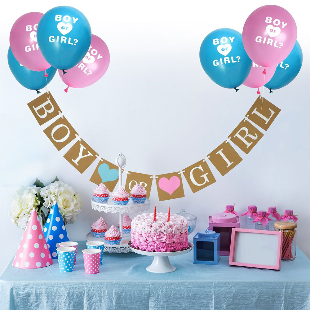 Zljq 24m Baby Shower Decorations Gender Reveal Party Favors Boy