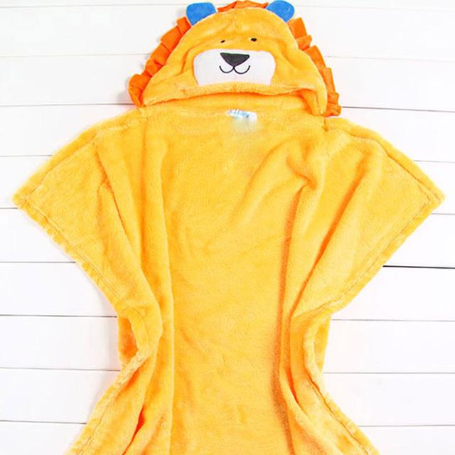 Towel com capuz novo projeto animal do bebê roupão infantil envoltório de pano manto desenhos animados do bebê com capuz toalhas cobertores recém-nascidos t0023