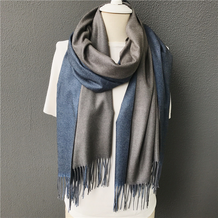 2017 new winter men scarf hot solid double-side soft cashmere scarves shawls and wraps bandana female foulard Tassel