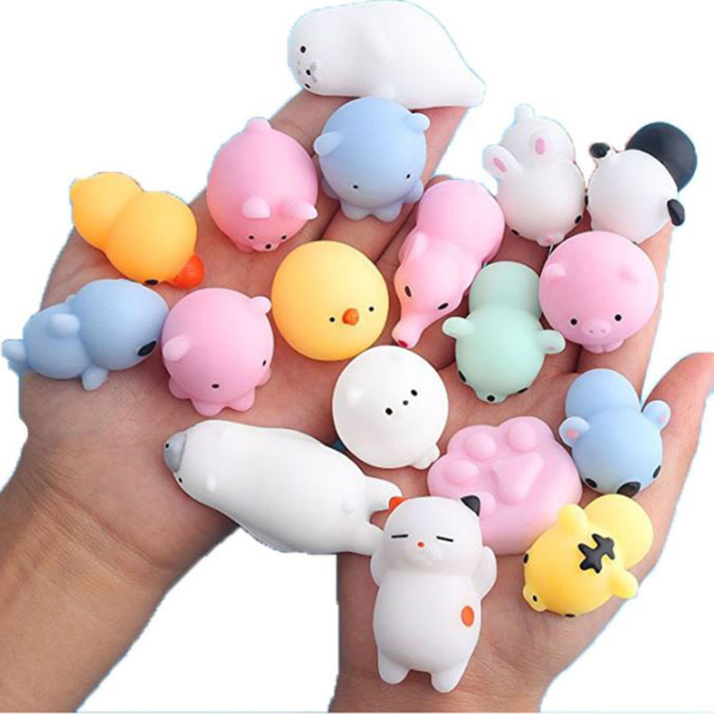 Hot Mini Change Color Squishy Cute Cat Antistress Ball Squeeze Mochi Rising Abreact Soft Sticky Stress Relief Funny Gift Toys