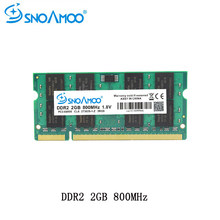 SNOAMOO Laptop RAMs DDR2 1GB 2GB 4GB 667MHz PC2-5300S 800MHz PC2-6400S 200Pin CL5 CL6 1.8V 2Rx8 SO-DIMM Computer Memory Warranty(China)