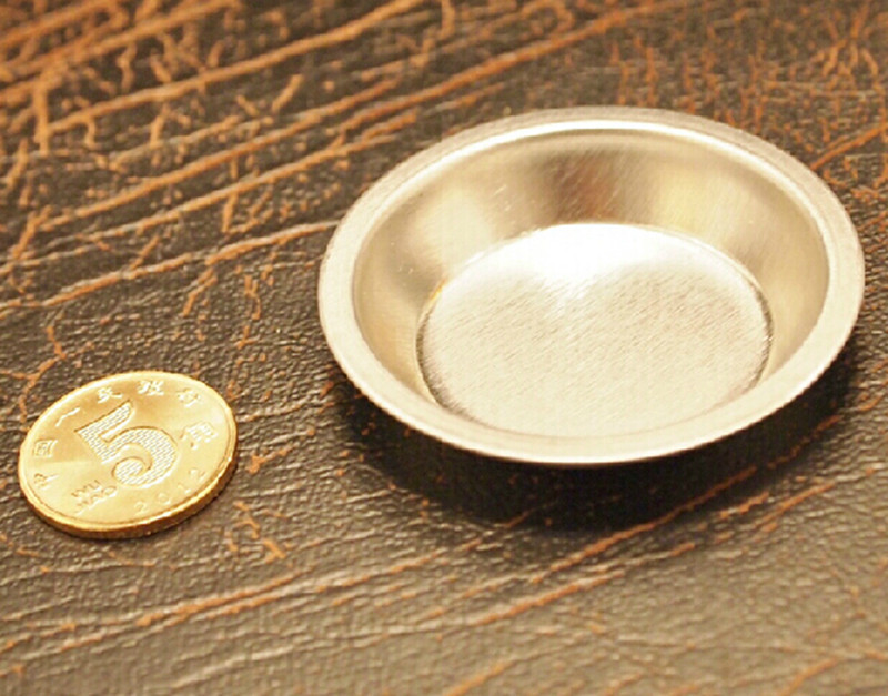 Stainless Steel Dish Gold Snuff Plate High Quality Beauty