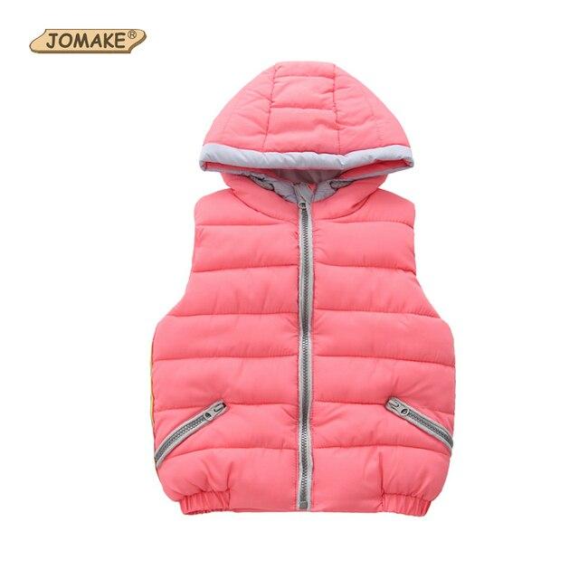 7e32871d91de JOMAKE Baby Girls Vest New Autumn Winter Solid Hooded Children ...