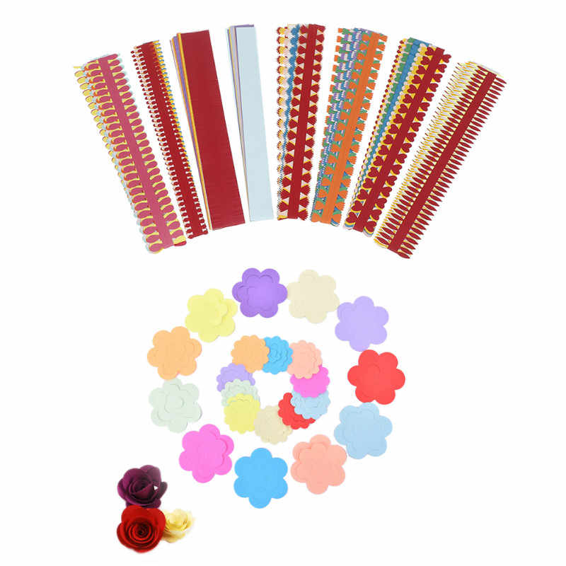 10PCS/1 Bag Colorful Origami DIY Paper Flower Quilling Paper Strips Hand Craft DIY