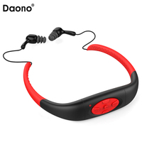 Daono IPX8 Waterproof USB MP3 8GB Underwater Sport MP3 Music Player Stereo Earphone Audio with FM For Diving Swimming