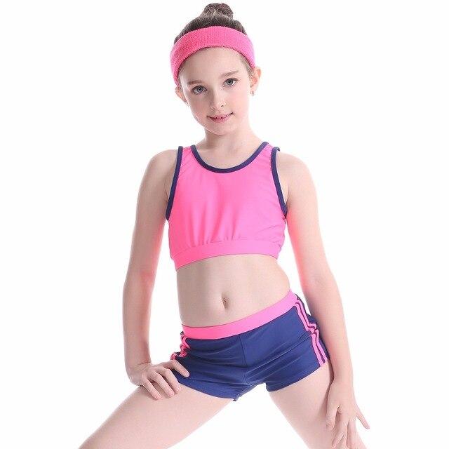 f7536137b379f Arena competition Girl Bikini 2019 Swimsuit Two Piece Swimwear Child  Bathing Suit Kids Swimming Suit Beach