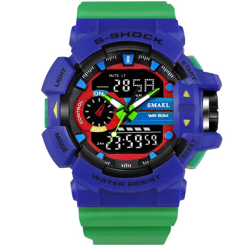 10 PCS Brand Men Sport Watch LED Digital 50M Waterproof Casual Watch S Shock Male Clock relogios masculino Men Gift