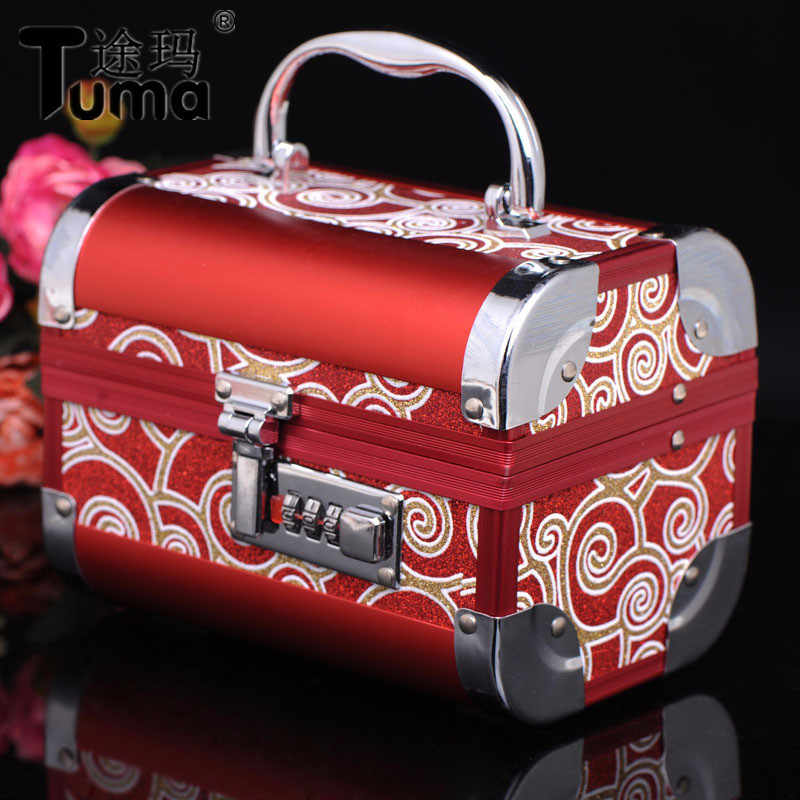 Free shipping 2019 New Pattern High-grade Metal Jewelry Box With High Quality With Lock For Wedding Gift Jewelry Casket