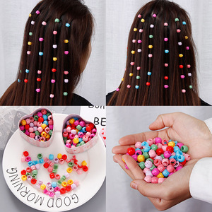 2020 New Korea Lovely Beads Hairpin For Girls Candy Colors Plastic Mini Hair Clips Barrette Headwear Hair Accessories