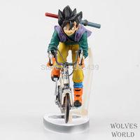 Hot NEW 1pcs Dragonball Dragon Ball Kakarotto Son Goku Ride A Bike PVC Action Figure Model