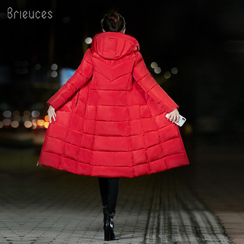 Brieuces Winter Coat Women Long Thicken Warm winter Jacket female Down Cotton Padded Jacket Outerwear hooded Parkas oversize 6XL men winter jacket workwear hooded reflective thicken padded cotton clothes wear resistant work safety jacket workshop coat