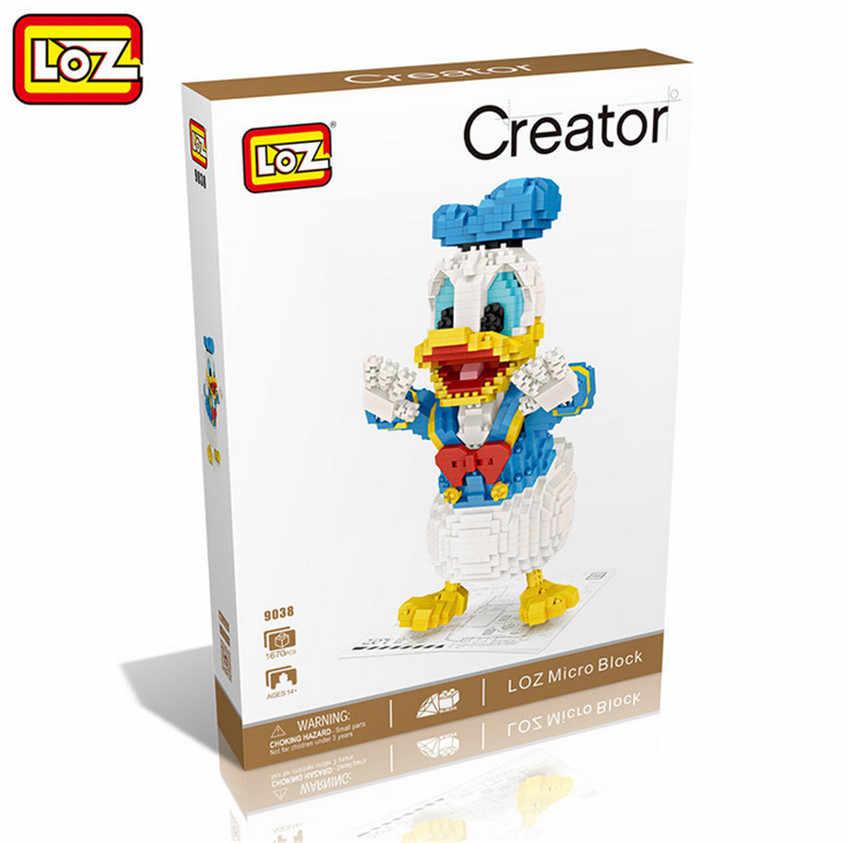 Loz kawaii filme dos desenhos animados gato cão animal odie garfield blocos de construção plástico figuras de ação brinquedo educativo 9038