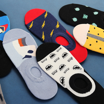 New Colorful Design Women socks Funny Short Socks Invisible Sock Slippers Cotton Ankle Summer Crew Casual Socks Animal Dog dog pattern invisible socks 3pairs