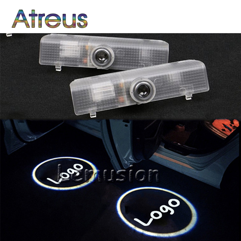Atreus 2X LED Courtesy Lamp Car Door Welcome Light Projector For Infiniti QX56 2004-2010 JX35 2013-2014 QX60 2014 Accessories