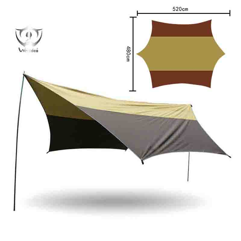 Sun Shelter 520*480cm Outdoor Sail UV Block Fabric Awning Camping Tent Sunshade ZS7-285 free shipping double layer awning beach tent sun shelter gazebot uv protect sunshade camping tent without floor mat
