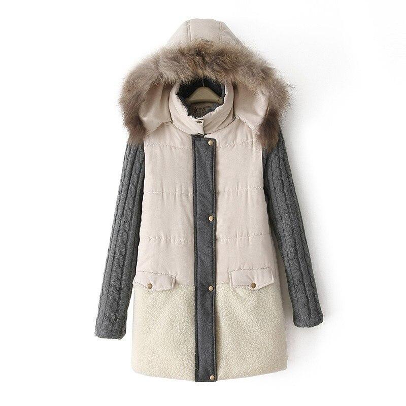 2017 new parkas for women winter leopard faux fur hooded coat long...