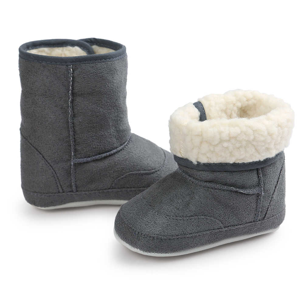 Winter Baby Boys Girls Shoes Russia Winter Infants Warm Shoes Faux Fur Girls Baby Booties Leather Boy Baby Boots Plush Children