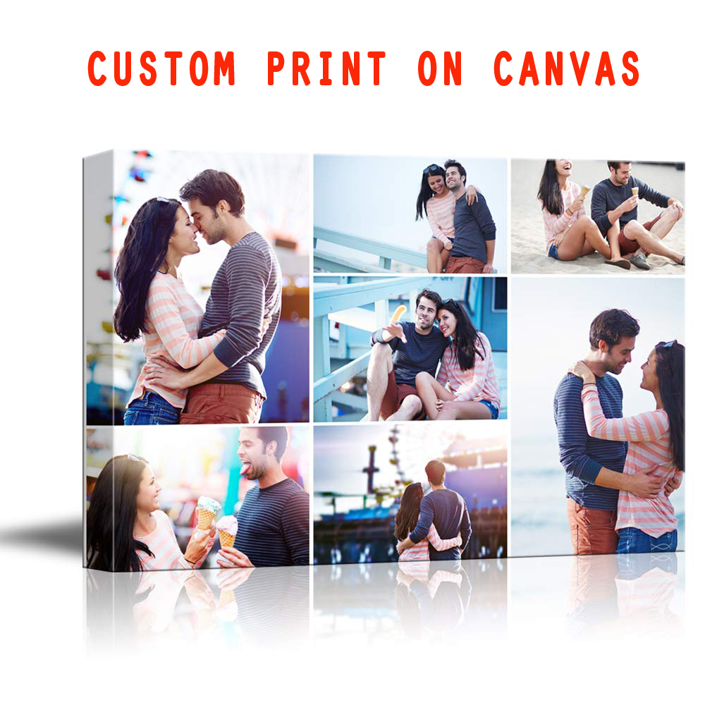 Poster Unframed-Painting Your-Photos Stretched Wall-Art Custom Canvas Prints Individual-Picture