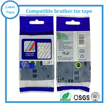 Tze135 Tze-135 Tze 135 12mm tz tape Compatible Brother P touch White on Clear tze tape
