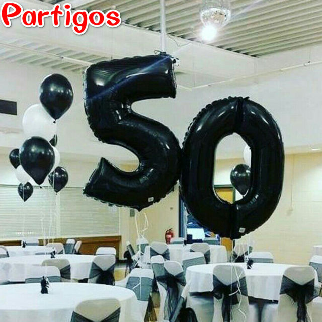 2pcs Lot 40 Inch Number 50 Foil Helium Balloons Adults Aged 50th Party Supplies Birthday Anniversary Decoration