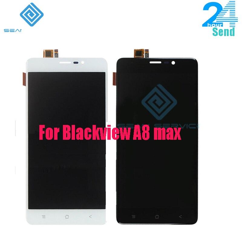 Pour Blackview A8 max LCD D'origine Display + TP Écran Tactile Digitizer Assemblée 5.5 A8 Max Testé Digitizer Panneau remplacement