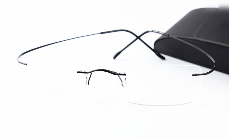 Image 2 - Eyesilove titanium rimless myopia glasses ultra light memory titan Nearsighted Glasses short sighted glasses  1.00 to  6.00-in Men's Eyewear Frames from Apparel Accessories