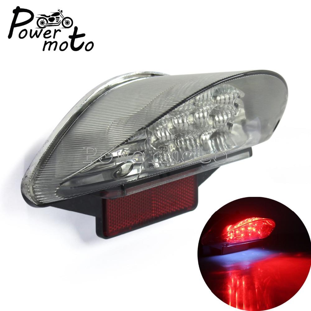 Motorcycle LED Brake Tail Light W/ License Plate Lamp For BMW F650 F650GS F650ST F800S F800ST R1200GS R1200GS Adventure R1200 R