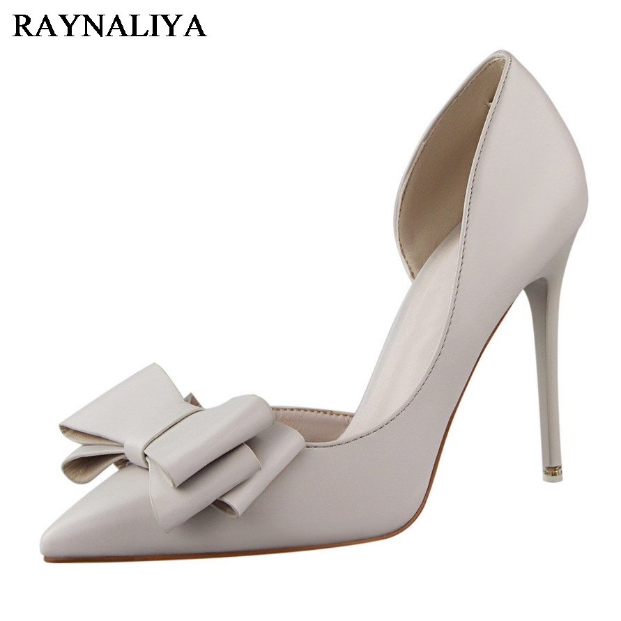Brand Designer Shoes Women Luxury 2017 Summer Closed Toed Pumps Sweet Butterfly High Thin Heel Sandals Party Shoes DS-B0004
