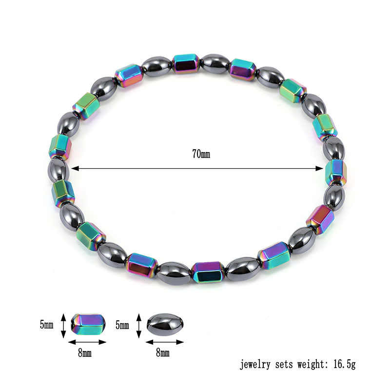 Вес потери магнит браслет цветными камнями магнитотерапия ножной браслет средство для сброса веса для похудения здравоохранения ювелирные изделия