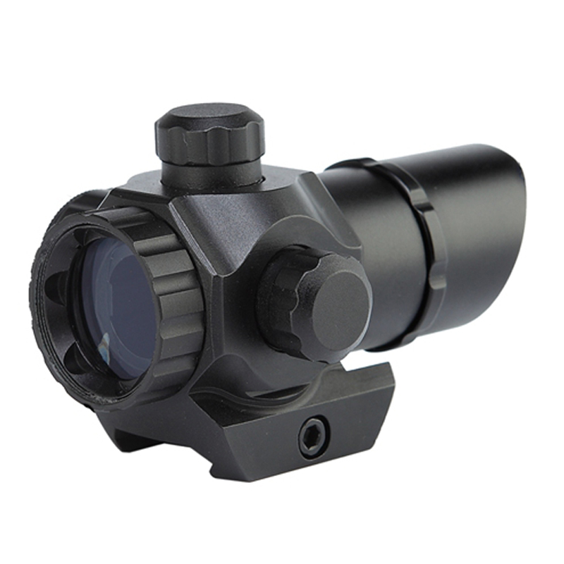 Image 2 - 1 x 22 Tactical Red/Green Dot Sight Scope Dual illuminated Reticle Airsoft Aiming Riflescope for Hunting fit 20mm Rail Mounts-in Riflescopes from Sports & Entertainment