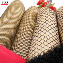 mesh Women Girls Silver Gold Color Tights Lady Sexy fishnet Hook Stockings Glitter Shimmer Female High Quality Shiny Pantyhose(China)
