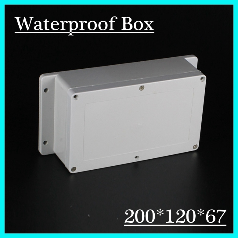 (1 piece/lot) 200*120*67mm Grey ABS Plastic IP65 Waterproof Enclosure PVC Junction Box Electronic Project Instrument Case waterproof abs plastic electronic box white case 6 size