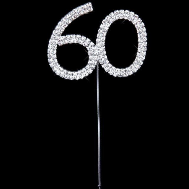 Cake Topper For 60th Wedding Anniversarybirthday Party On