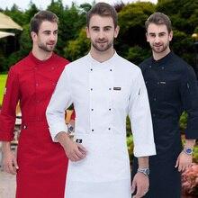 New Chef Jacket adult Food Service Restaurant Uniform Kitchen Cook Clothes Clothing  Male Plus Size B-6267