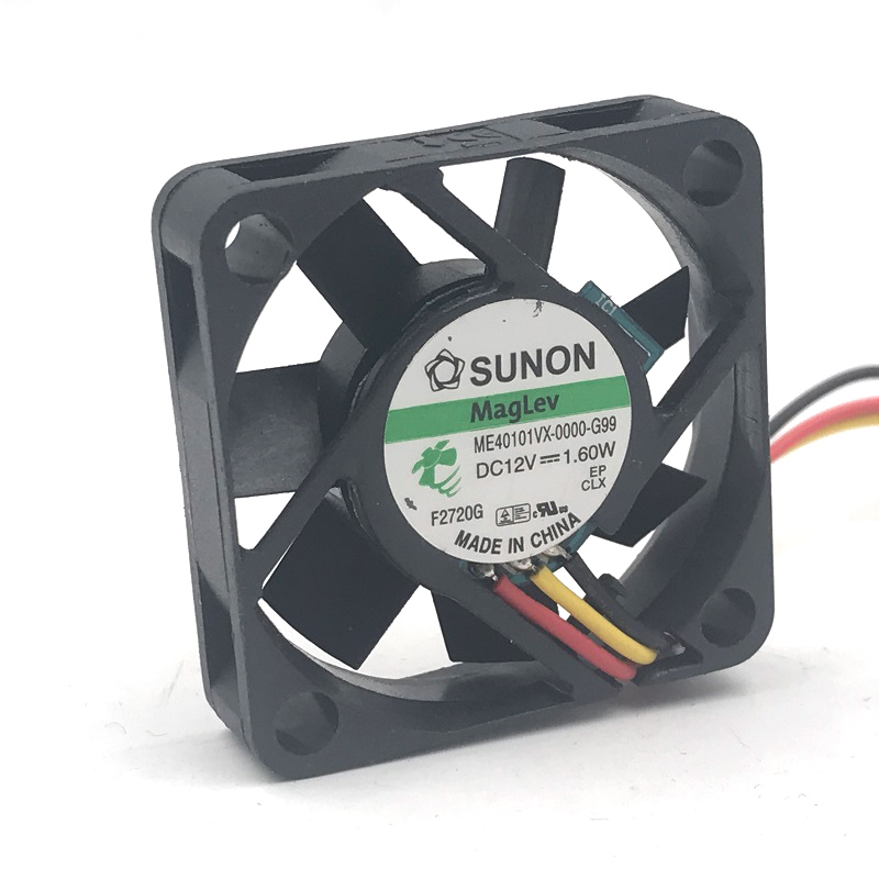 sunon ME40101VX-0000-G99 40mm 4010 40*40*10mm slim DC12V 1.60W mini axial case cooling fan 3-P 8500RPM 9.9CFM sunon original kde2404pfv3 double ball bearing cooling axial fan dc 24v 0 9w 4010 40 40 10mm 100 pcs lot