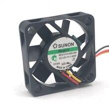 Sunon ME40101VX-0000-G99 40 мм 4010 40*40*10 мм с мультипокрытием DC12V 1,60 Вт мини цифровая фотокамера корпусное Охлаждение вентилятором 3-P 8500 об/мин 9.9CFM