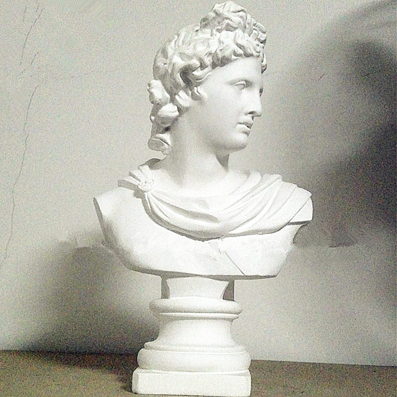 Gypse Apollo mythologie grecque Adelos demi-longueur Photo ou Portrait Statue résine œuvre bureau décoration bureau L1596