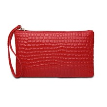 Fashion Day Clutch Bag Crocodile Pattern pu Leather Clutch Women's Vintage Small Wallet Handbags fashion women s clutch bag with pu leather and crocodile print design