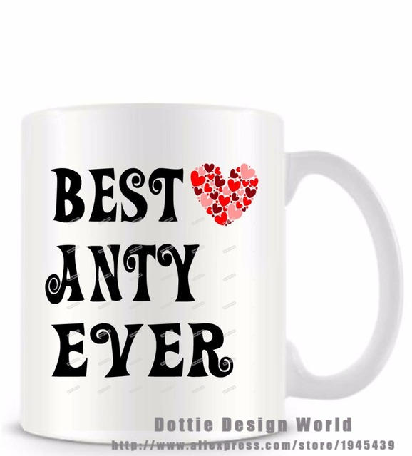 5fcc83ff592 Best ANTY Ever funny novelty travel mug Ceramic white coffee tea cup  personalized ANTY Birthday Christmas gifts free shipping