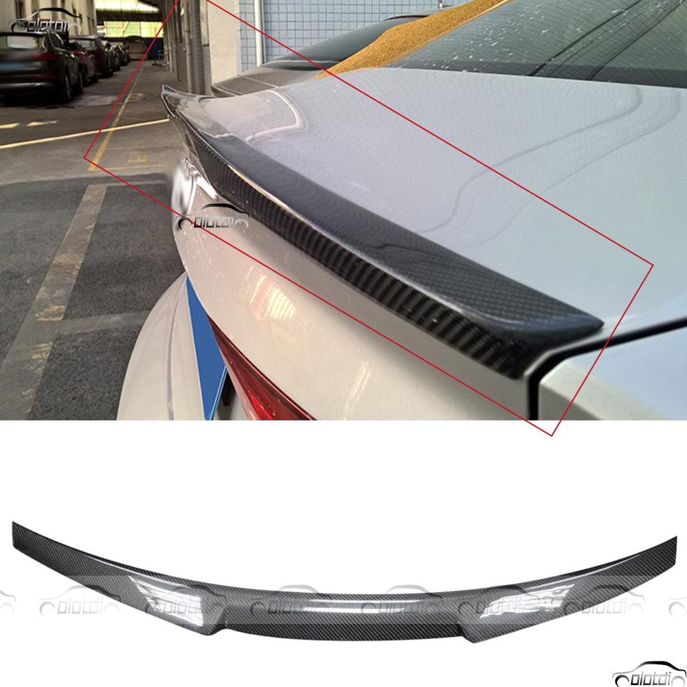 for Audi A3 S3 8V Sedan 2014 2015 V Style Car Styling Carbon Fiber Rear Wing Trunk Lip Spoiler Splitter