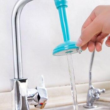 Pulverizadores de torneira de cozinha de economia de água criativos Bico de filtro de torneira ajustável Bico giratório Torneira Acessórios de banheiro de cozinha 1