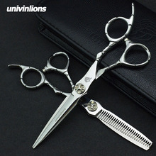 Univinlions 6  Professional Hair Scissors Set Sharp Blade Hairdressing Kit Barbers Shears Salon Razor