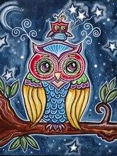 Diamond Embroidery 5D DIY Diamond Painting Color Owl Diamond Painting Cross Stitch Rhinestone Mosaic цена 2017
