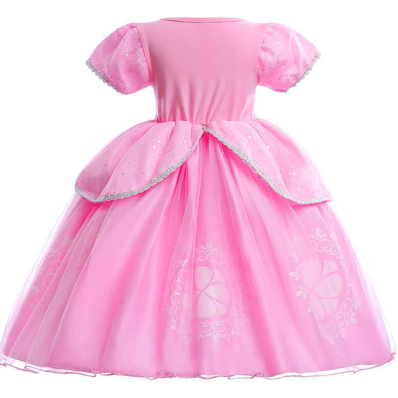 Платья для маленьких девочек; Новое поступление; платья для девочек; маскарадный костюм принцессы Анны и Эльзы для Хэллоуина; детское праздничное платье; детская одежда для девочек