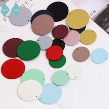 DIY серьги материал спрей матовый Scrub цвет резиновая краска Большой Круглый Кулон Кольцо Серьги Кулон