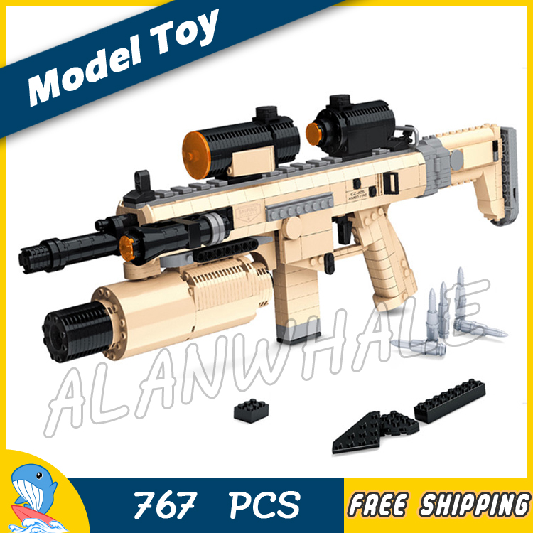 767PCS New CZ805 BREN A1 Model Toy Gun Weapon For Military Assault Soldiers Building Kit Blocks Toys Brick Compitable with Lego ...