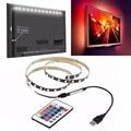 5 v 5050 60smd/m rgb led luz de tira bar tv kit de luz de fundo usb-controle remoto rc 1 m 80lm brilhante à prova d' água usb gadgets