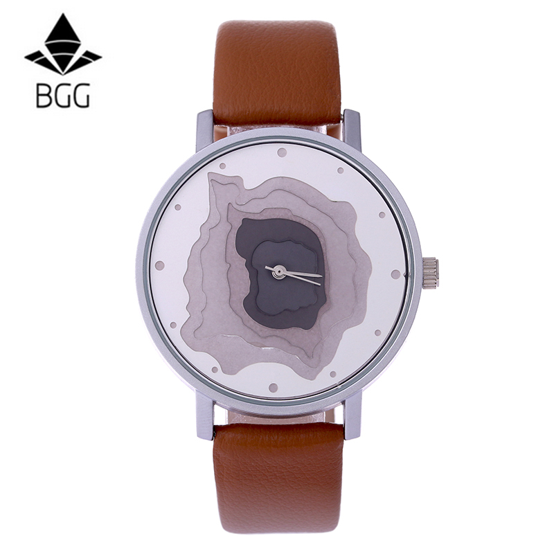 3D Face wood grain Dial unisex watch Ladies Casual wr $