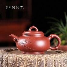 PINNY 190ml YiXing Bamboo Zisha Teapot Chinese Kung Fu  Purple Clay Tea Pot Sand Crafts Retro Drinkware